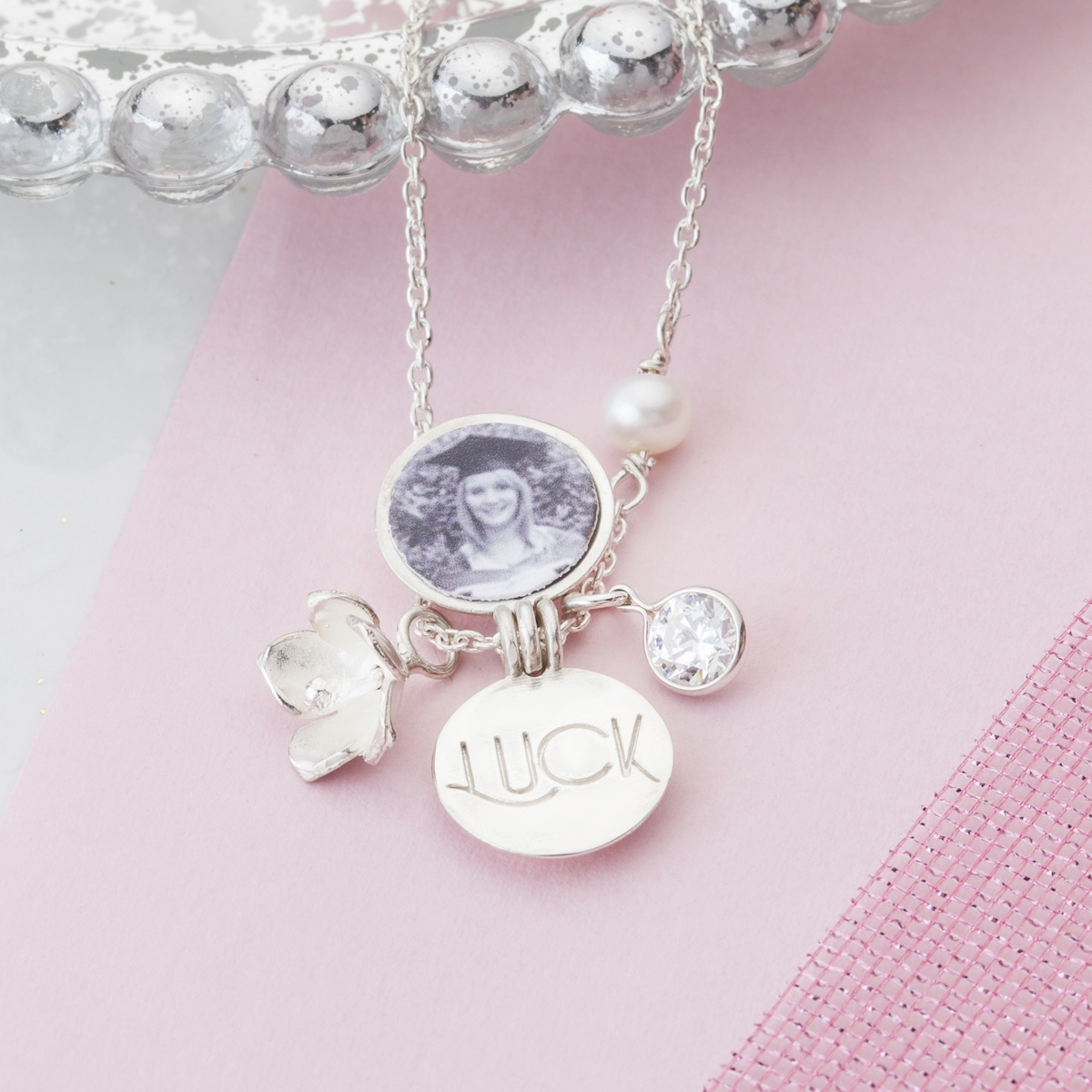 heart necklace frame locket ivory lockets product pearl floating sparkling charm