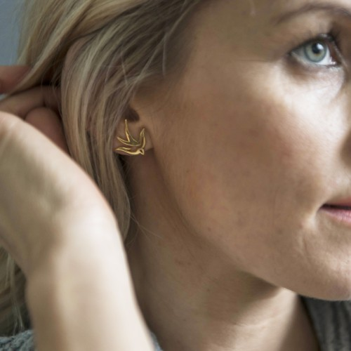 Effortless and stylish bird earrings
