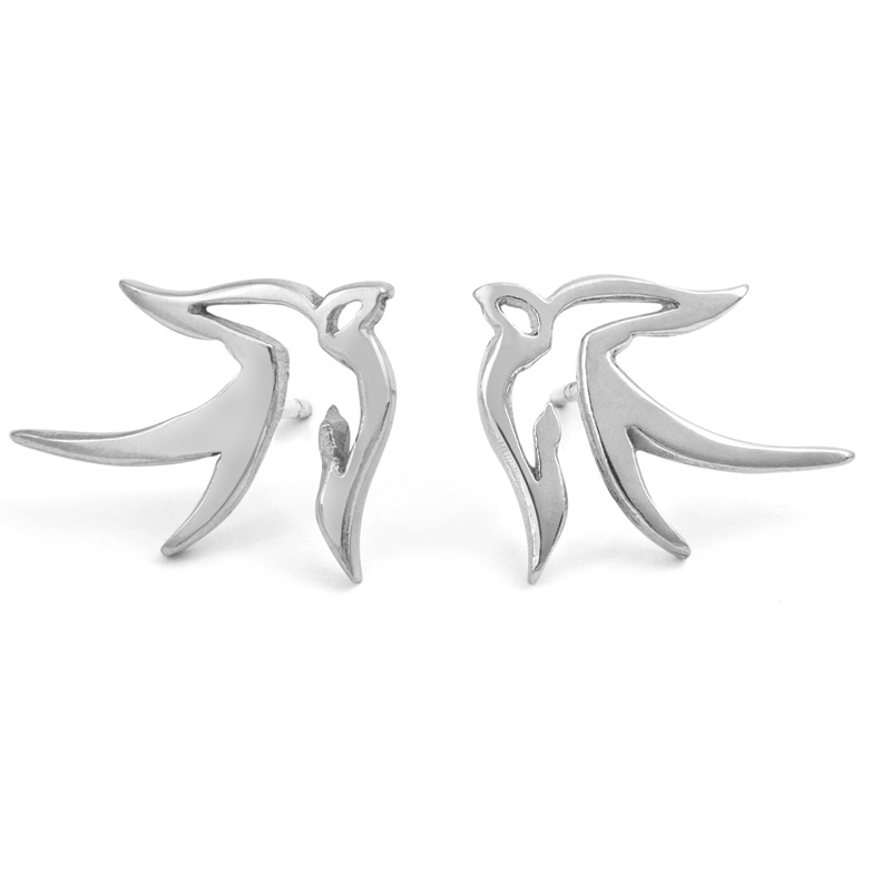 Handmade bird stud earring by kimberley Selwood