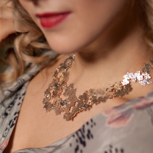 Decorative Lace Statement Necklace