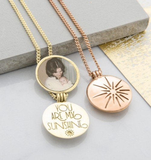 Yellow and Rose Gold you are my sunshine handmade lockets