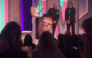 Cate Blanchett and Sir Ian Mckellen at the BFI jeweller to the stars
