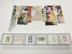 Gemstones to go with the mood board for Wild at Heart Collection exclusively for TJC