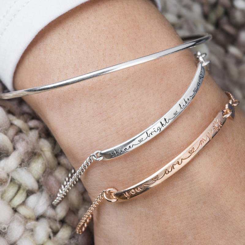 Silver And Rose Gold Friendship Style Bracelets