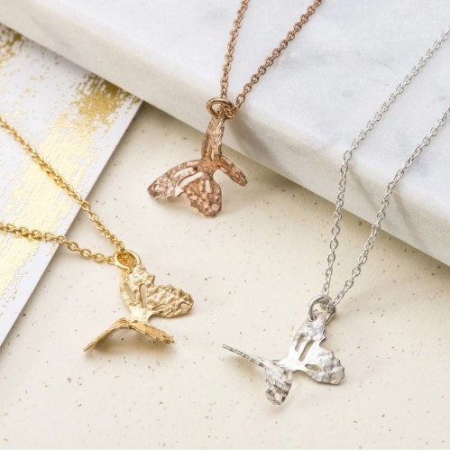 small butterfly pendant on chain