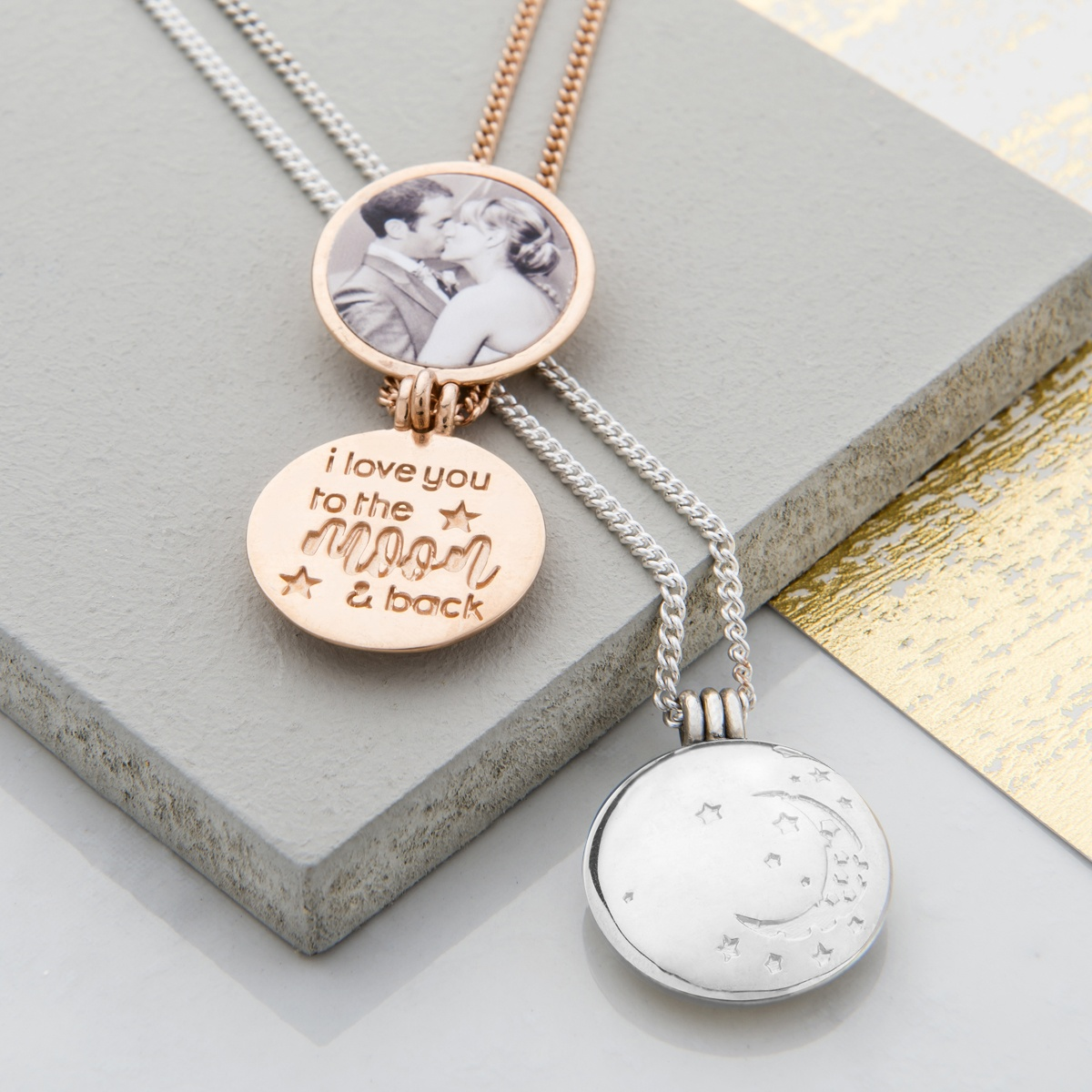 I love you to the moon and back locket