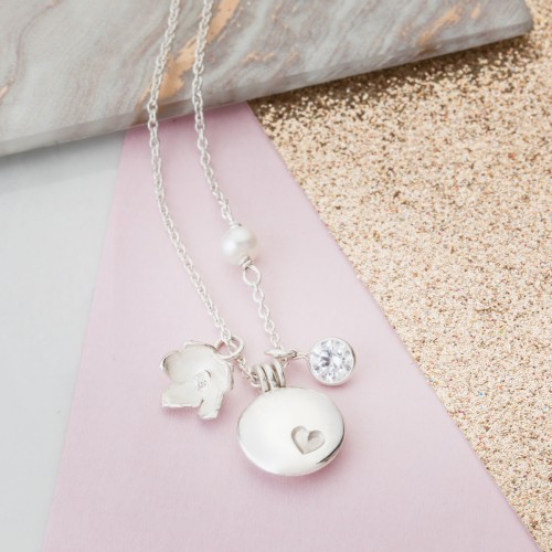 Good Luck Charm necklace, wishes of luck and happiness to the wearer