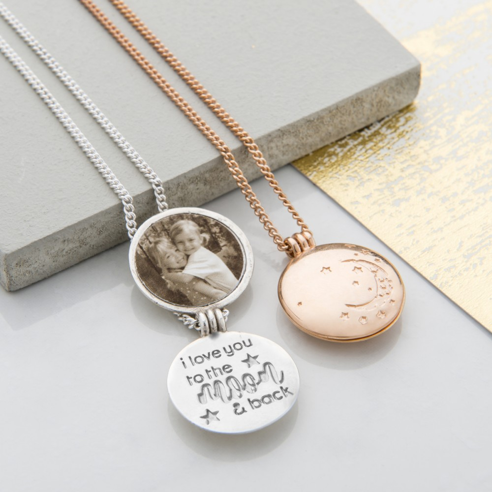 lockets locket oval gold letter necklace personalised with silver rose