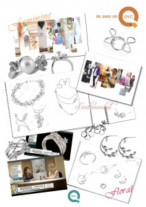 The Silver Innocence Collection by Kimberley Selwood. QVC mood board and jewellery designs