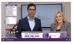 TJC the shopping channel which will be selling Kimberley's jewellery