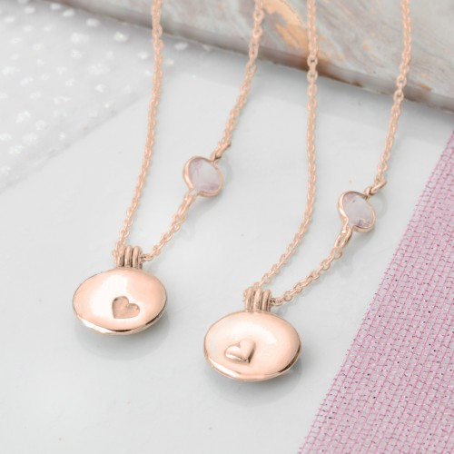 Rose Gold Locket set for sister or best friend
