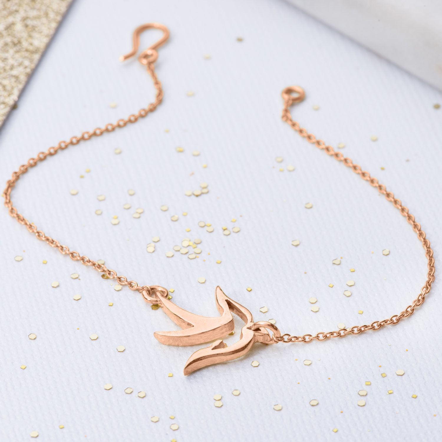 ose gold small bird bracelet
