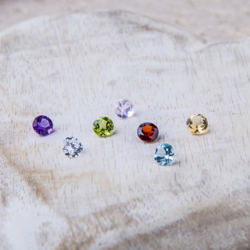 Semi precious gemstone choices available to personalise your jewellery.