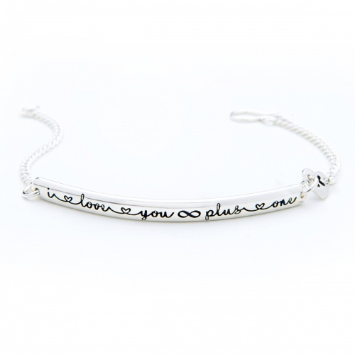keepsake silver bracelet I love you infinity plus one bracelet