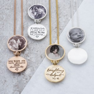 Initial Locket With Hidden Message