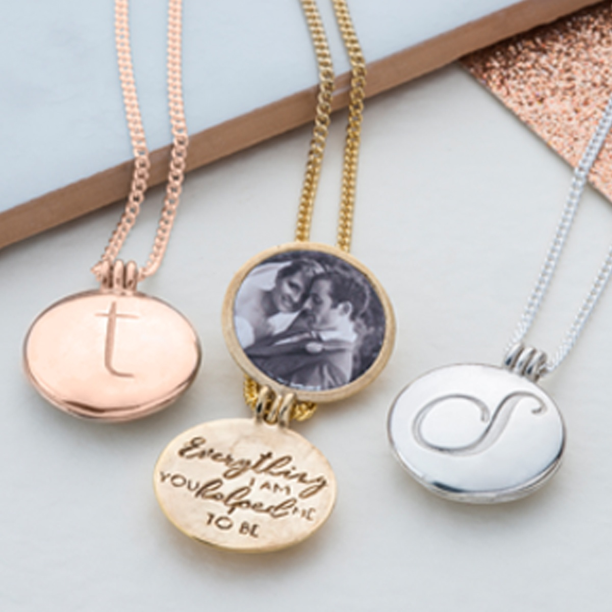 pendant initial pendants stainless forevergifts lockets locket circle personalized steel engraved com