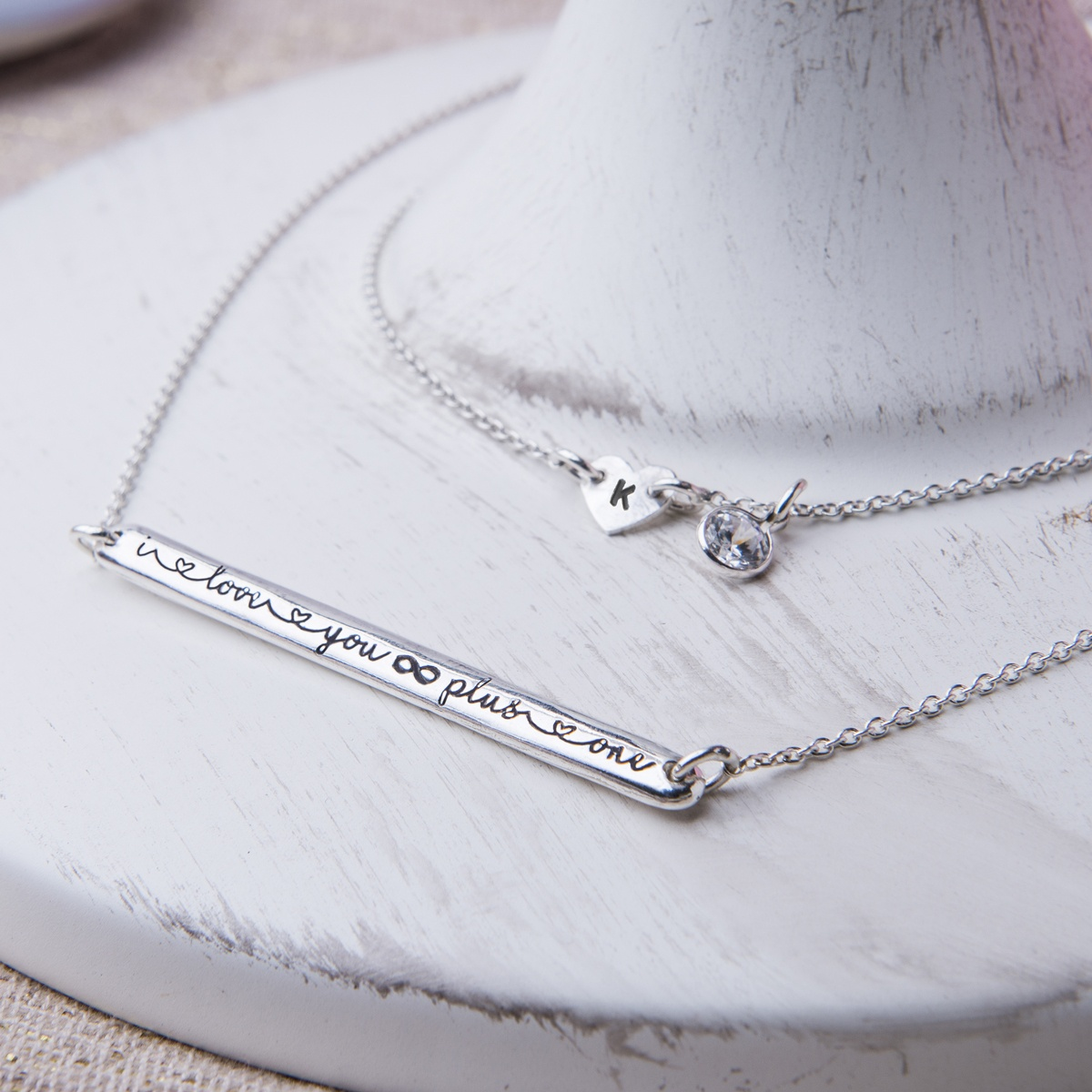 Love you infinity plus one necklace. perfect gift for a loved one, handmade especially for you.