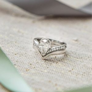 Engagement and Wedding Ring fitting together